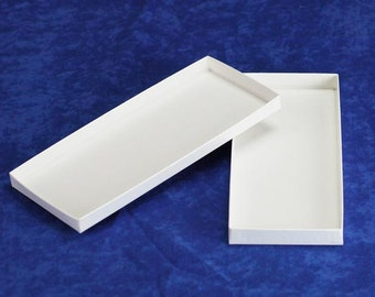 10 Long White Paper Gift Certificate Box Merchandise Boxes 8.5 x 3.5""