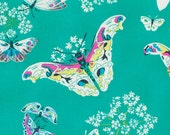 Butterflies in Topaz, Alchemy quilting fabric by Amy Butler