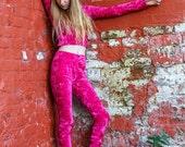 crushed velvet leggings pants