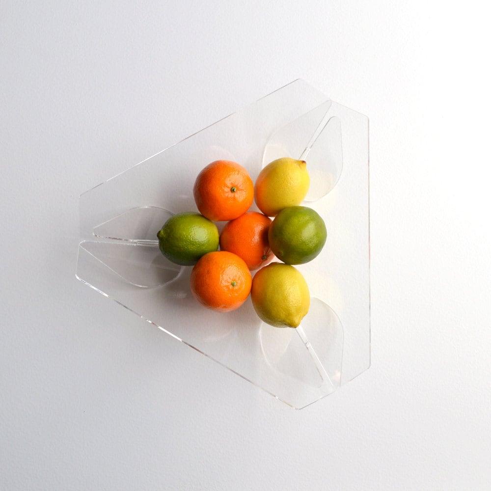 Triangle Fruit Bowl Acrylic Minimalist Modern Fruit Bowl