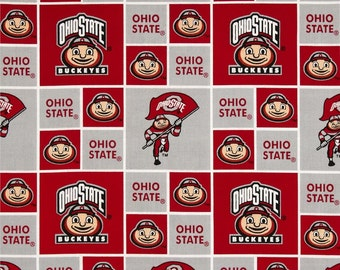 NCAA Ohio State Buckeyes 100% Cotton V6 Fabric by the yard