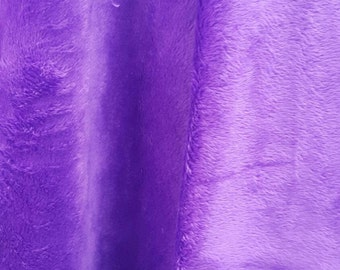 Minky Fabric By The Yard Purple