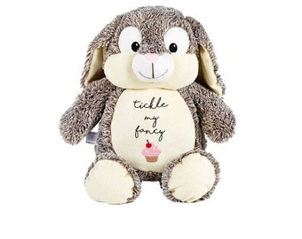 Valentine's Soft Toy 'Tickle My Fancy' embroidered rabbit