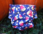 One Size Pocket Cloth Diaper with insert made from PUL Halloween candy corn fabric for 8 lbs to 30 lbs - in stock