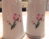 Salt and Pepper Shaker with gold and floral details