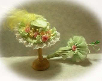 Miniature Silk Hat Mint Green