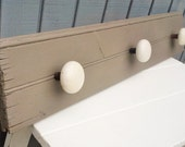 Vintage Beadboard Coat Rack with Porcelain Door Knobs