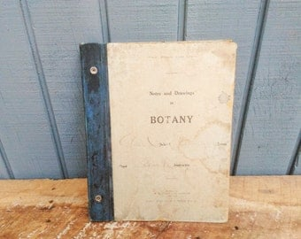 Botany School Book - Botany Work Book - 1907 Student Note Book