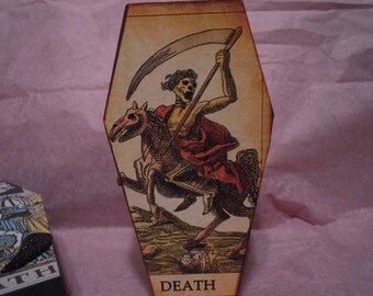 Tarot Card Coffin Box, Death Tarot Card Coffin, Gothic Decor Box, Supernatural Treasure Box,