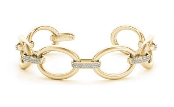 1.33 ct Unique Diamond Bracelet 14K White Yellow Rose Gold