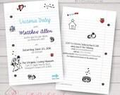 Wedding, Engagement, Anniversary, Sweet 16, Prom Invitations. School Doodles, Notebook Paper, School Notes. Samples/Printing/Digital Files