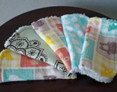 Gender Neutral Washcloth Set - Baby Wash Cloths - Peach, Yellow, Mint - Baby Bath