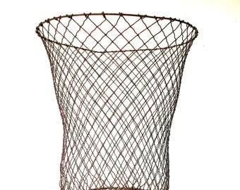 Vintage industrial metal basket