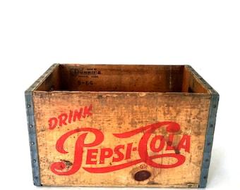 Vintage Pepsi soda crate