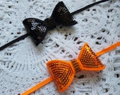 Halloween headband,baby headband,baby girl,Halloween bow,sparkle,Halloween baby headband,flower headband,orange and black,headband set