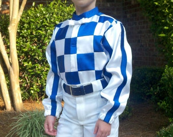 Special Order Only.  Secretariat Silk sizes 7, 8 or 10 Girl's or Boy's . Custom made to fit.