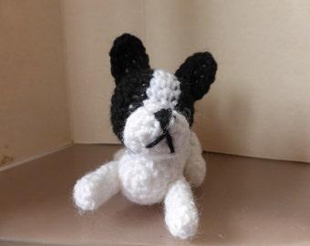 french bulldog miniature amigurumi crochet toy