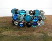 Handmade Boho Memory Wire Bracelet