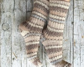 Wool and cotton socks, unisex knit socks