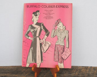 Vintage Booklet From The Buffalo Courier Express Pattern Book Marian Martin