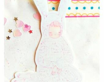 bunny suit sticker