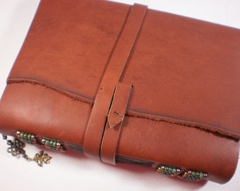 Blank Journal Beaded Leather Cover