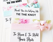 Thank You Card, Wedding Thank You Gift , thank you for helping us tie the knot, bridesmaid gift, gift for flower girl maid of honor