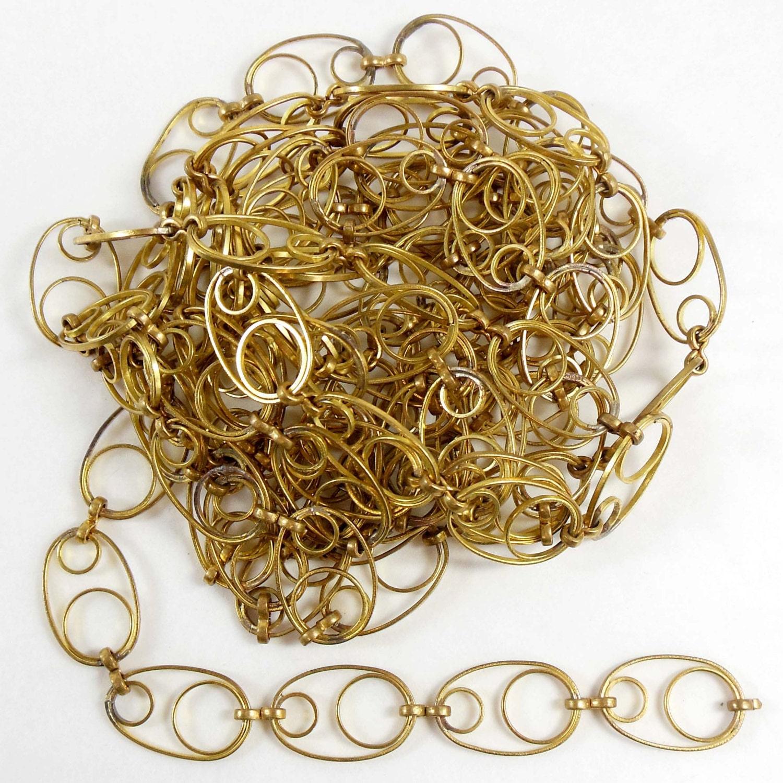 vintage wire chain jewelry making brass chain custom