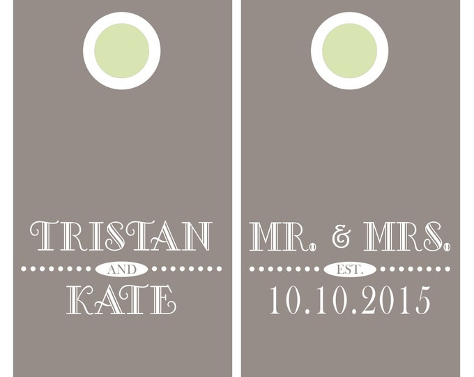 Wedding Cornhole Decals | Bride and Groom Gift | Mr and Mrs Wedding Decor | Personalized Cornhole