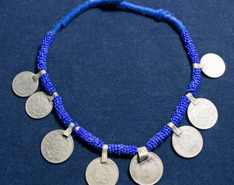Vintage Afghanistan Kuchi Coin Necklace Gypsy Tribal Boho Hippie Belly Dance Uber Kuchi®