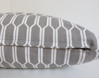 2 Pillow covers- Grey white Pillow - 20x20 - Set Pillows - white Pillow Cover -Gray Pillow Cover -Designer Pillow - Accent Home - Home Decor