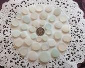 35 Coin or Button Square genuine sea glass CB-J8-36-A