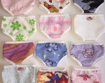 """18"""" Girl Doll Clothes Panty Set of 3 Panties Underwear Bloomers Undies Fits American Girl Doll Clothes 18"""" Battat"""