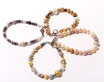 Midnight Fresh Water Pearl and Swarovski Crystal Bracelet