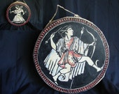 CLEARANCE: Apollon and Artemis Doublesided deerskin drum