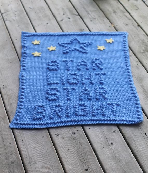 Star Light Star Bright Crochet Baby Blanket Pattern - Baby Blanket Pattern - Blanket Pattern