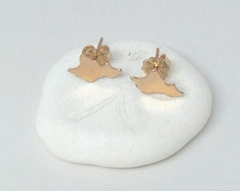 Oahu Studs, Island Earrings in Sterling Silver or 14K gf handmade by Sparrow Seas, Maui