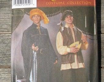 simplicity renaissance costume # 5925 size A xs s m l xl men or teen boys uncut