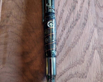 Acrylic steam punk bolt action bullet Pen (gun metal)