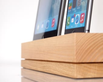iPhone / iPad Docking Station / iPhone and iPad Charging Station - iPad Air / iPad Air 2 Dock - modern style