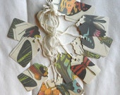 12 Vintage Style Butterfly Gift Tags