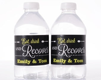 100 Wedding Water Bottle Labels - Wedding Water Labels - Custom Water Bottle Labels - Waterproof Water Bottle Labels