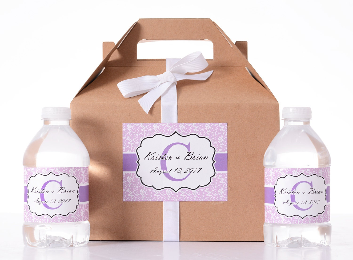 Wedding Gift Box Stickers : Wedding Gift Box 25 Wedding Favor Box / Welcome Box Labels