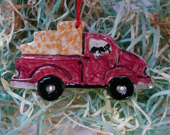 Pickup Ceramic Ornament - Handmade