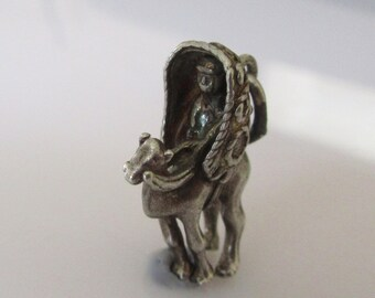 Silver Bedouin Man on a Camel Charm