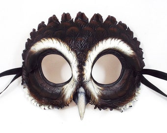 Spectacled Owl Leather Mask