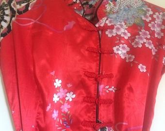 womens vintage 1980s 1990s cheongsam dress S-M