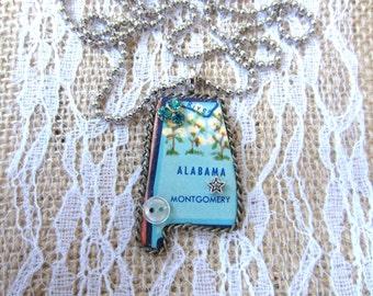 Alabama Puzzle Piece Necklace