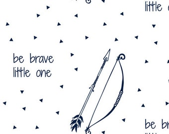 Be Brave Crib Sheet - Bow, Arrows, Navy