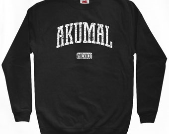 Akumal Sweatshirt - Men S M L XL 2x 3x - Mexico Shirt - Crewneck - 4 Colors